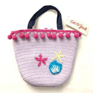 Cat & Jack Toddler Girls Kid Starfish Tote Handbag